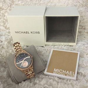"Michael Kors ""Lauryn"" Gold Diamond BRAND NEW Watch"